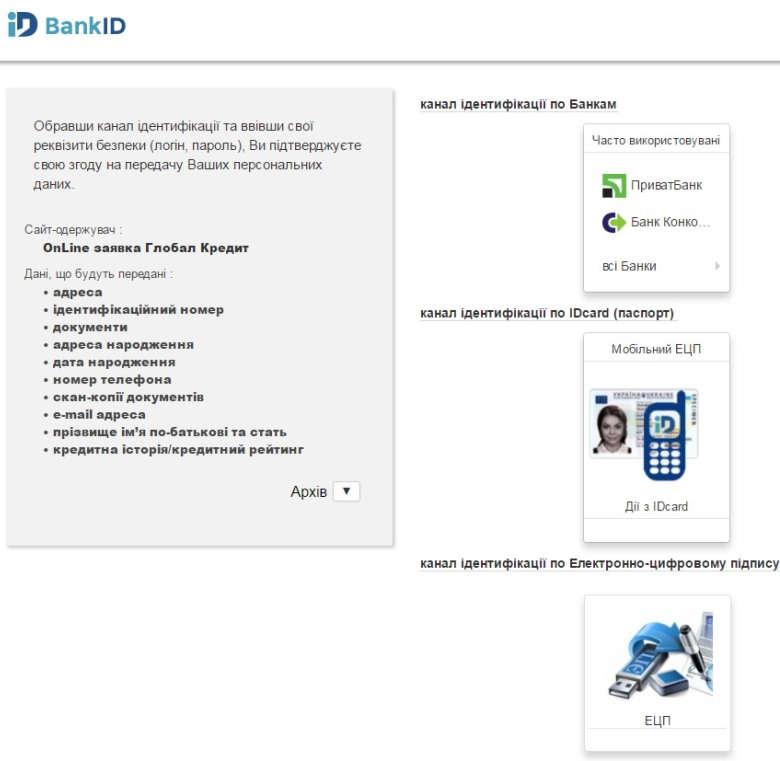 Сервис BankID